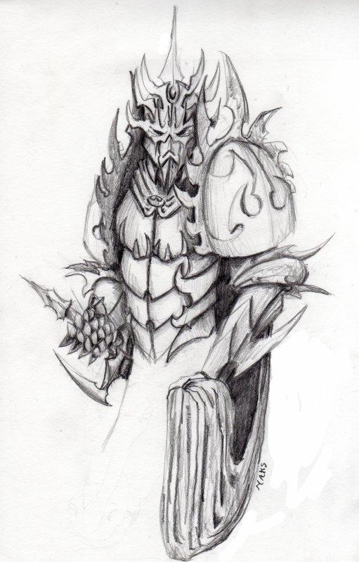 Chevalier sombre en armure vanarek 39 s drawning book - Dessin armure ...